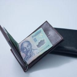 Ví kẹp tiền Hàn Quốc nhiều ngăn thẻ 2 màu trẻ trung giá sỉ