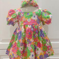 Đầm bé gái kèm turban đủ size 6-30kg giá sỉ