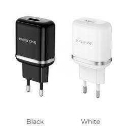 Cóc Sạc Nhanh BA36A QC3.0 Borofone - 1 Cổng USB - chuẩn EU