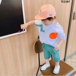 Bộ áo thun quần ngố túi hộp phong cách Hàn Quốc giá sỉ