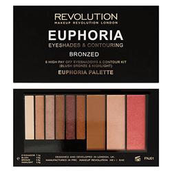 Bảng Phấn Mắt Tạo Khối Makeup Revolution Euphoria Eyeshadow & Contouring Bronzed Palette 18g giá sỉ
