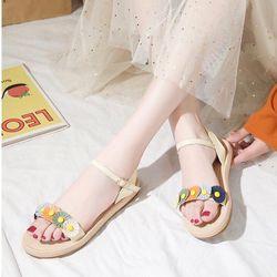 Giay sandal hoa