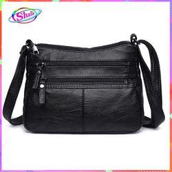 Túi đeo chéo da cổ điển kiểu 1 chỉ thẳng thời trang cao cấp Shalla D3 giá sỉ
