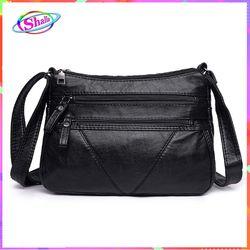 Túi đeo chéo da cổ điển kiểu chữ V thời trang cao cấp Shalla S20 giá sỉ