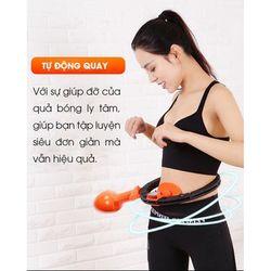 VÒNG LẮC EO HULA - Máy tập thể hình eo, vừa giảm mỡ thừa eo vừa điều hòa nhịp tim - Sử dụng dễ dàng, tiết kiệm thời gian giá sỉ