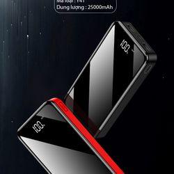 Pin sạc dự phòng mặt kính toàn màn hình có hiển thị lượng pin Y41 dung lượng 25000mAh giá sỉ