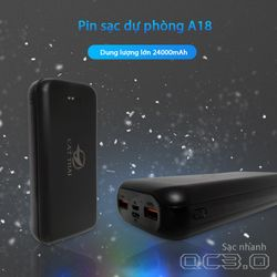pin sạc dự phòng A18 sạc nhanh qc 3.0 dung lượng 24000mah giá sỉ