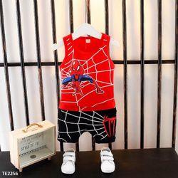Bộ thun người nhện màu đỏ giá sỉ