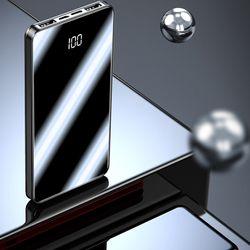 Pin sạc dự phòng mặt kính hiện đại có hiển thị lượng pin Y43B dung lượng 15000mAh giá sỉ