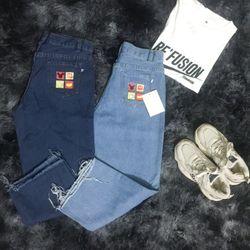 Quần jeans nữ ống rộng giá sỉ
