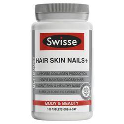 Viên uống collagen bổ da, tóc, móng Swisse Hair Skin Nails 100 viên giá sỉ