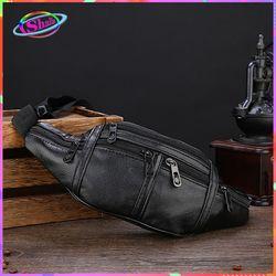Túi đeo hông da cao cấp 2 túi kéo thời trang Shalla S56 giá sỉ