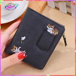Ví nữ da vuông mini hình mèo túi thời trang cao cấp Shalla KSN85 giá sỉ