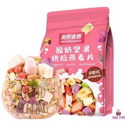 [ĂN KIÊNG] Ngũ cốc sữa chua mix hạt, hoa quả YOGURT FRUIT OATMEAL gói 500g - Đài Loan giá sỉ