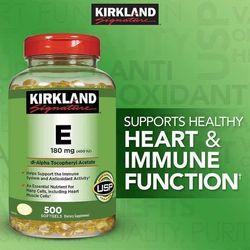 Vitamin E Thiên Nhiên •400 I.U• Kirkland Signature (500 Viên) Của Mỹ