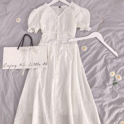 Đầm trắng tay bèo giá sỉ