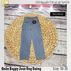 Quần Baggy Jean Ống Suông Màu ĐáBGS02Size 33-35 giá sỉ