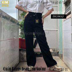 Quần Baggy Jean Ống Suông Màu Đen BGS02Size 30-32 giá sỉ