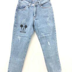 Quần jeans ống nhỏ mickey giá sỉ