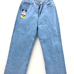 Quần jeans ống rộng mickey giá sỉ