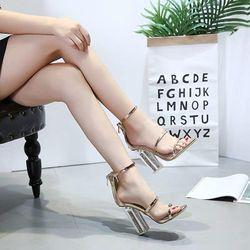 Giày cao gót ánh vàng kim tuyến - cg472 giá sỉ