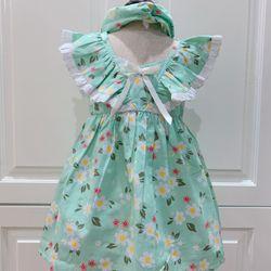 Váy trẻ em thiết kế độc quyền tặng kèm turban giá sỉ