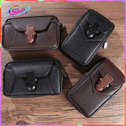 Túi đeo nam nút cài đựng điện thoại Zipper đai hông da cao cấp thời trang Shalla SH54 giá sỉ
