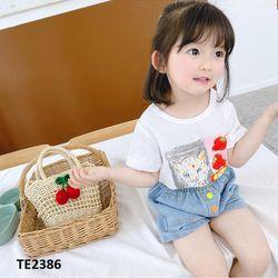 Áo phông bé gái in hình chó sói TE2385 giá sỉ