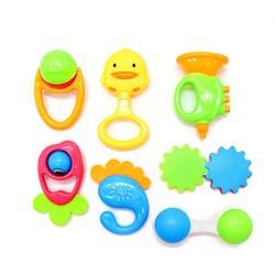 Bộ đồ chơi lục lạc, xúc xắc phát tiếng kêu 7 món cho bé K225D giá sỉ