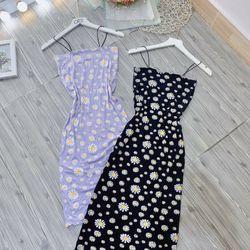 Đầm body lụa in giá sỉ