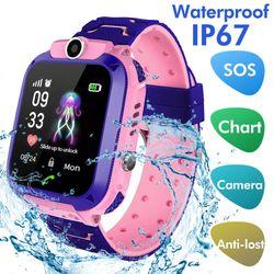 Đồng hồ định vị trẻ em Q12 chống nước lắp được sim giá sỉ