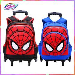Balo cần kéo cho bé tơ nhện kèm khiêng loại 6 bánh xe chống thắm nước phù hợp cho bé đi học tiểu học giá sỉ