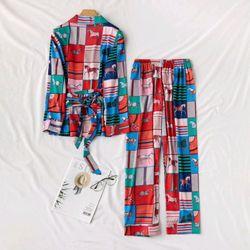 Đồ ngủ pijama tdqd Ngựa màu chất lụa hàng quảng châu cao cấp giá sỉ