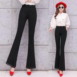 Quần nữ thời trang thiết kế lưng cao ken dáng, có co giãn, ống loe trẻ trung NV0191 giá sỉ