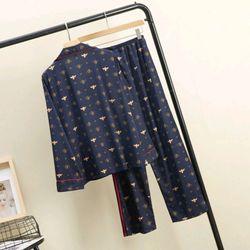 Đồ ngủ pijama tdqd ong vàng chất lụa quảng châu siêu đẹp giá sỉ