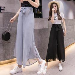 Quần voan nữ thời trang, thiết kế dáng rộng trẻ trung, màu sắc thời thượng NV0189 giá sỉ