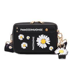 Túi đeo chéo dáng cốp họa tiết hoa cúc thời trang dây đeo bản to size 18cm VIDEO