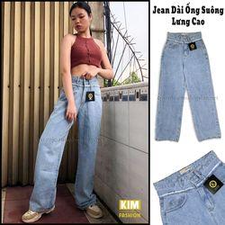 Quần Jean Ống Suông 2 Lưng Tua Màu Đá Bigsize BGS02 30-32 giá sỉ