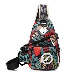 Túi đeo chéo unisex đa năng nhiều ngăn tiện dụng có cổng USB phong cách năng động VIDEO
