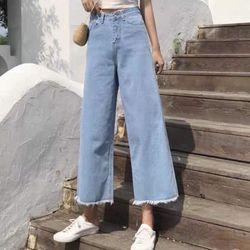Quần jean nữ ống rộng giá rẻ giá sỉ