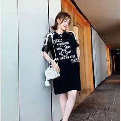 Đầm thun đen kết cườm DG cao cấp giá sỉ
