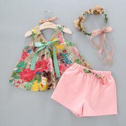 bộ đồ bé gái mặc nhà, vải cotton giá sỉ