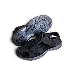 Giày sandal nam Rova kiểu rọ bít mũi màu đen 626 giá sỉ
