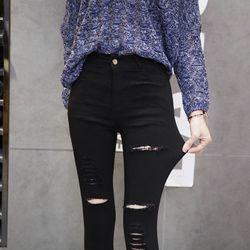 Quần legging nữ thời trang, sờn rách phong cách, chất dày dặn NV0244 giá sỉ