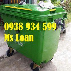xe thu gom rác 660 lít nhựa hpde giá sỉ