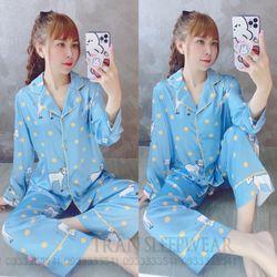 Đồ ngủ đồ pijama tdqd họa tiết Chất Lụa in 3D hàng quảng châu siêu đẹp giá sỉ