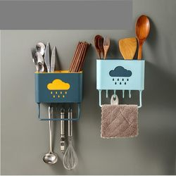 Kệ đựng muỗng đũa dao treo tường hình đám mây tiết kiệm diện tích giá sỉ