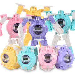 Đồng hồ điện tử biến hình Robot 2 trong 1 cho bé giá sỉ
