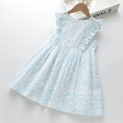 Váy sát nách hoa dây xanh nhạt giá sỉ