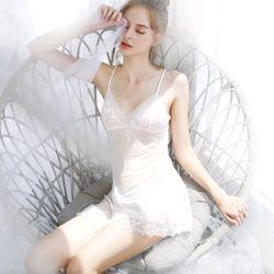 Đồ ngủ váy ngủ phối ren hoa sexy chất voan quảng châu cao cấp giá sỉ